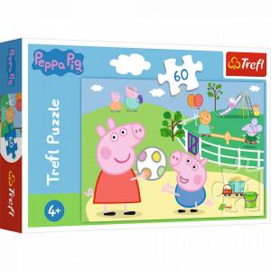 Puzzle Trefl 60piese - Peppa Pig Distractie cu Prietenii
