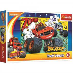 Puzzle Trefl, Blaze, Cursa infernala, 60 piese