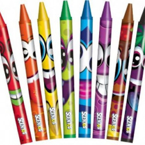 Set 8 creioane cerate parfumate Scentos, multicolore