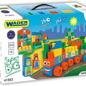 Set de constructie Wader, Super Big, 140 elemente
