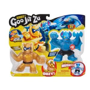 Set doua figurine Goo Jit Zu, liliac versus panda, Pantaro vs Batter, 20cm