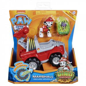Set Figurina cu Vehicul,Paw Patrol,Marshall,Dino Rescue