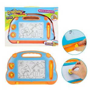Tablita Magnetica Pentru Desen Toi-Toys 2 in1 cu Creion si Stampile
