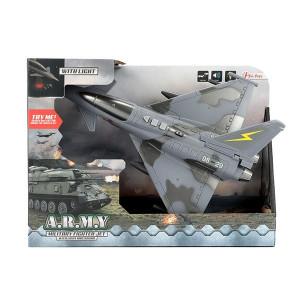 Avion Militar Frictiune Toi Toys cu Lumini si Sunete