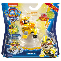 Figurina luminoasa Paw Patrol - Charged Up, Rubble