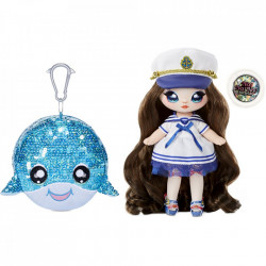 Na Na Na Surprise 2 in 1, Sparkle S1 - Papusa si accesoriu fashion, Sailor Blu