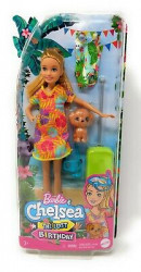 Papusa Barbie Chelsea Lost Birthday- Stacie si Animalut de companie