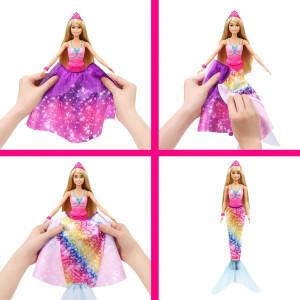 Papusa Barbie Dreamtopia-Printesa 2in1