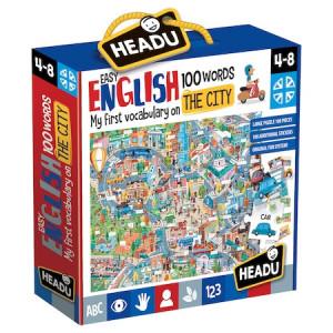 Puzzle Headu Teacher Tested - Orasul, 100 de cuvinte in limba engleza