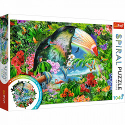 Puzzle Spiral Trefl 1040piese - Animale Tropicale