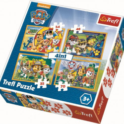 Puzzle Trefl 4 in 1, Paw Patrol, 35/48/54/70 piese