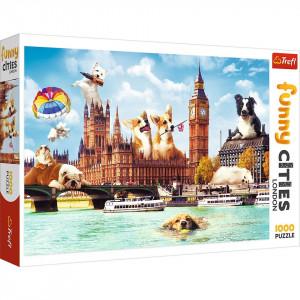 Puzzle Trefl, Catelusi la Londra, 1000 piese
