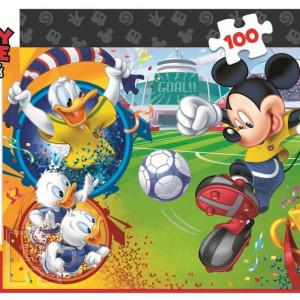 Puzzle Trefl, Disney Mickey Mouse pe terenul de sport, 100 piese