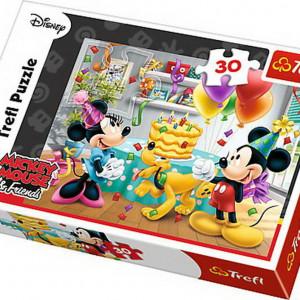 Puzzle Trefl, Disney Mickey Mouse, Tortul aniversar, 30 piese