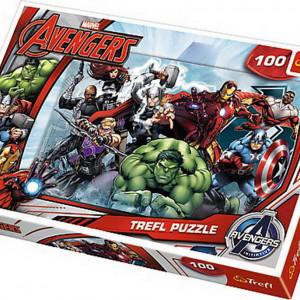 Puzzle Trefl, Incepe atacul Marvel, 100 piese