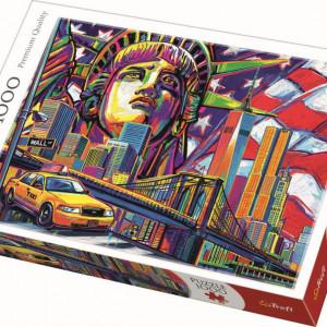 Puzzle Trefl, New York in culori, 1000 piese