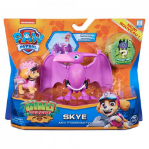 Set 2 figurine Paw Patrol Dino Rescue, Skye si Pterodactyl