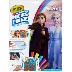 Set Crayola Carte de Colorat Frozen 2 cu Carioci Color Wonder