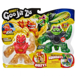 Set de doua figurine Goo Jit Zu, Golden Blazagon vs Rockjaw