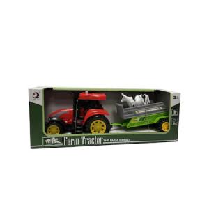 Tractor cu Remorca,Lumini si Sunete,28 cm