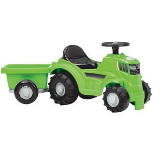Tractor Ecoiffier fara Pedale cu Remorca,Verde,81cm