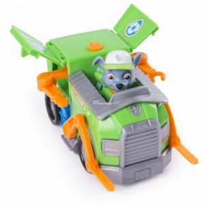 Figurina cu Vehicul Clasic Paw Patrol-Rocky Recycle Truck