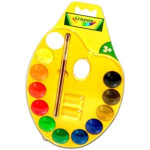 Acuarele Crayola cu paleta si pensula,multicolor