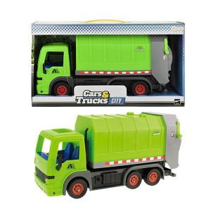 Camion Frictiune de Gunoi Toi Toys,Verde 33cm