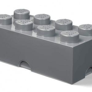 Cutie depozitare LEGO 2x4 gri inchis