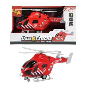 Elicopter Toi Toys cu Lumini si Sunete,Rosu