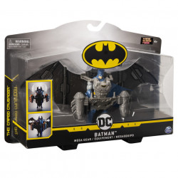 Figurina Batman,The caped crusader - Mega gear, cu accesorii, 10 cm