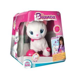 Jucarie de plus interactiva IMC Toys Pisicuta Bianca
