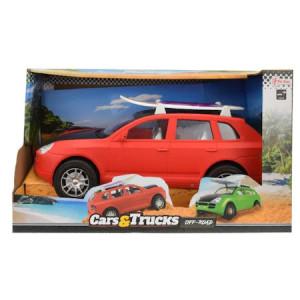 Masina friction cu placa de surf, Toi - Toys, rosie