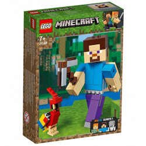Minecraft Steve BigFig cu papagal