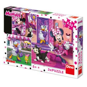 O zi cu MInnie-puzzle 3in1(55 piese)
