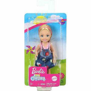 Papusa Barbie, Chelsea cu par blond si sarafan, 15 cm