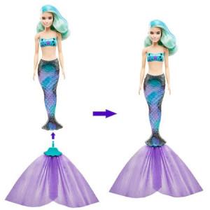 Papusa Barbie - Color Reveal, Sirene, 7 accesorii