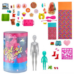 Papusa Barbie, Ultimate Color Reveal, 50 de accesorii secrete