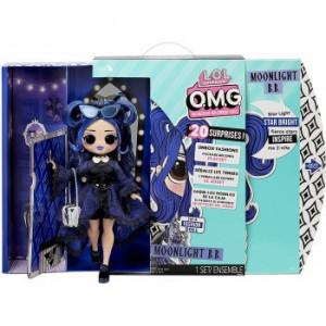 Papusa L.O.L. Surprise! OMG Fashion Doll - Moonlight BB cu 20 surprize, seria 4