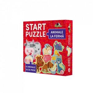 Puzzle 4 in 1, Animale La Ferma, Noriel, 26 piese
