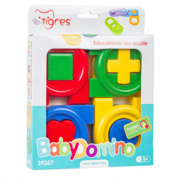 Puzzle Educational Tigres-Baby Domino