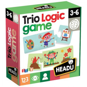 Puzzle Headu S.T.E.M. - Logic Trio, 36 piese, 12 ipostaze