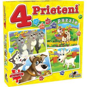 Puzzle Noriel 4in1 Prieteni Mari-12,24,42,56piese