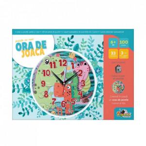 Puzzle Noriel Ora de Joaca-Puzzle cu Ceas Dinozauri