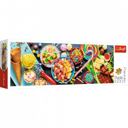 Puzzle panoramic Trefl - Sweet Delights, 1.000 piese