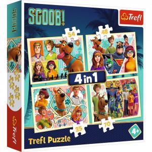 Puzzle Trefl 4 in 1, Scooby Doo si prietenii