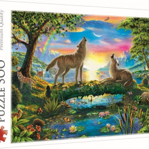 Puzzle Trefl, Lupi in natura, 500 piese