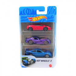 Set 3 masinute metalice Hot Wheels,1:64,multicolor,899