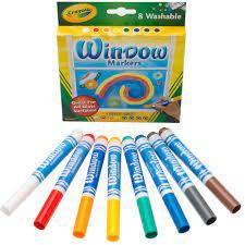 Set 8 Markere Crayola,lavabile,pentru sticla,multicolor