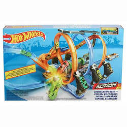 Set de joaca Hot Wheels, Corkscrew Crash